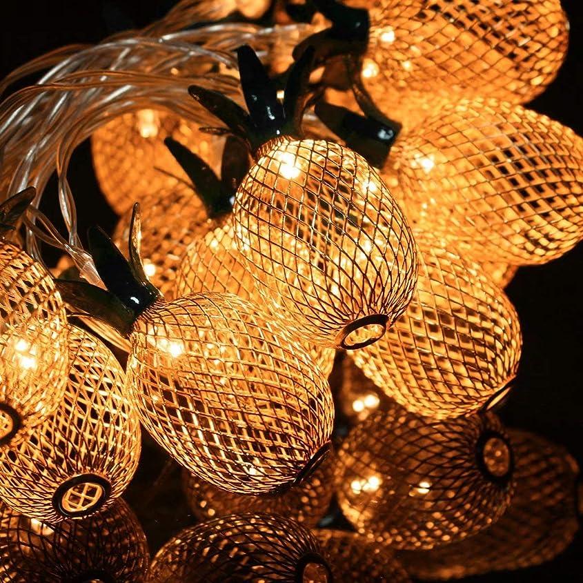 乳白セーター早くパイナップル形 LED クリスマス アウトドア 屋内 電池式 10leds 1.3m by Ungfu Mall