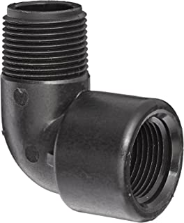 Banjo SL075-90 Polypropylene Pipe Fitting, 90 Degree Street Elbow, Schedule 80, 3/4