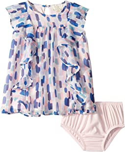 Brush Strokes Ruffle Dress (Infant)