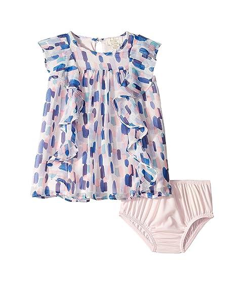 Kate Spade New York Kids Brush Strokes Ruffle Dress (Infant)