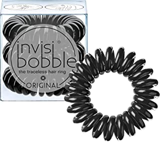 invisibobble Original Traceless Hair Ties, Elastic Hair Band with Strong Grip, Non-soaking, Hair Accessories for Women (Pack of 3)