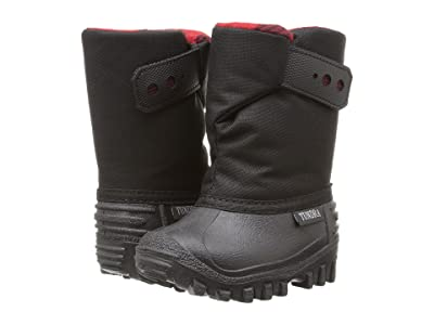 Tundra Boots Kids Teddy 4 (Toddler/Little Kid) (Black/Red) Boys Shoes