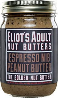 Eliot's Adult Nut Butters Espresso Nib Peanut Butter, 12 Ounce, Non-GMO, Gluten Free, Vegan, Keto and Paleo Friendly, 72 grams of Protein
