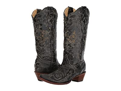 Corral Boots C1198 (Black) Cowboy Boots