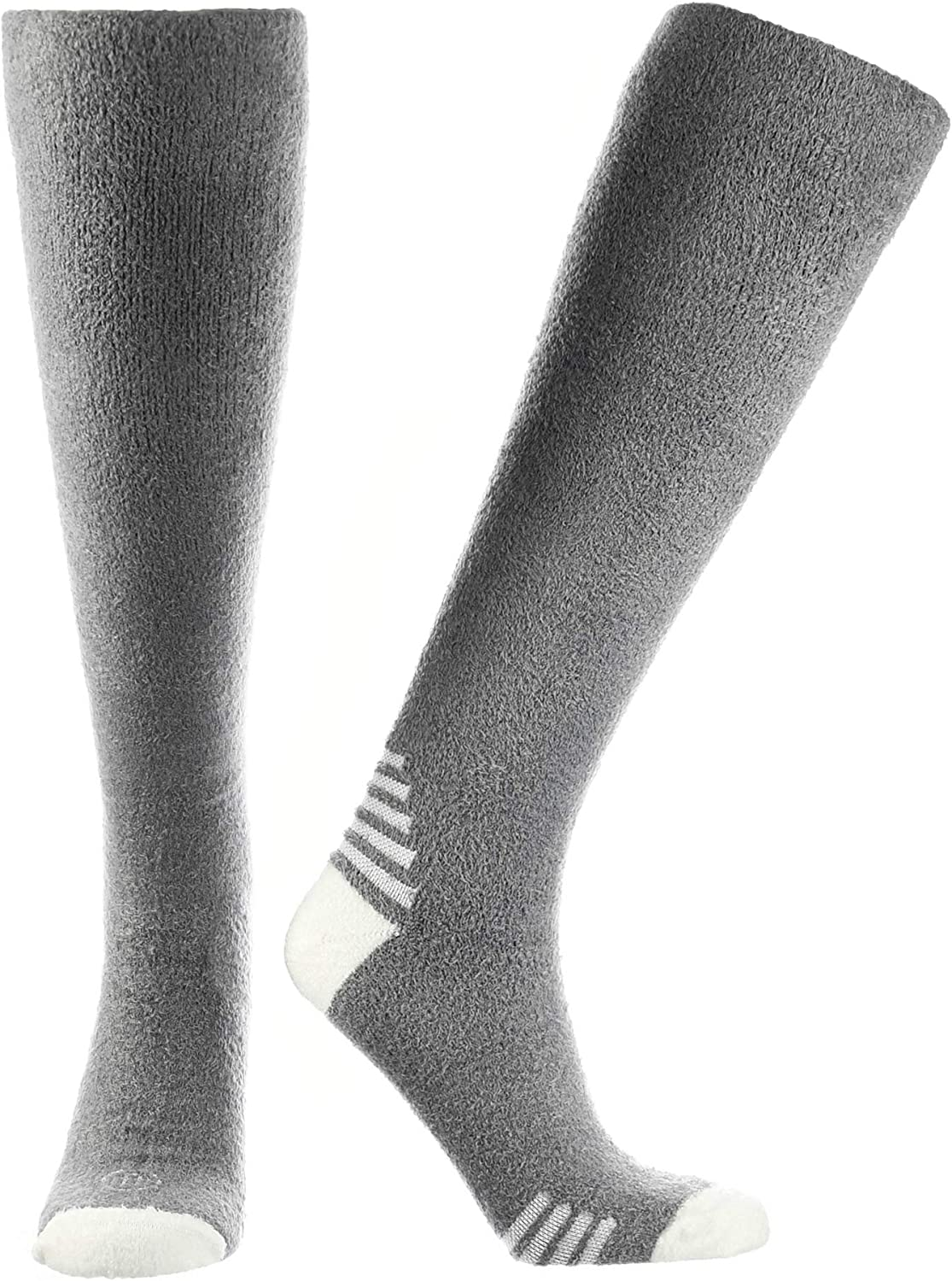 Doctor's Choice Men's Sleeping Socks, Light Cozy Compression Sock, 8-15 mmHg, with Soft, Warm, Fuzzy Features