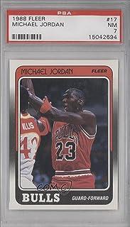 ffe55800ea9778 1988-89 Fleer  17 Michael Jordan Bulls NM PSA 7 Graded Basketball Card