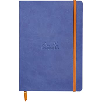 Rhodia Rhodiarama SoftCover Notebook - 80 Dots Sheets - 6 x 8 1/4 - Sapphire Cover