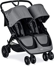 Britax B-Lively Double Stroller - Up to 100 pounds - Car Seat Compatible - UV 50+ Canopy - Adjustable Handlebar - Easy Fold, Dove