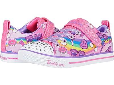 SKECHERS KIDS Twinkle Toes Sparkle Lite Rainbow Skies 314756L (Little Kid) (Pink/Multi) Girl