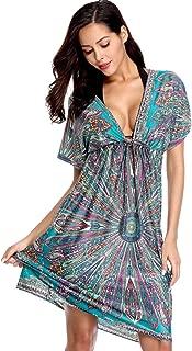 Women Cover up Dress Bikini Beach Dress Kaftan Swimsuit Beachwear Kimono