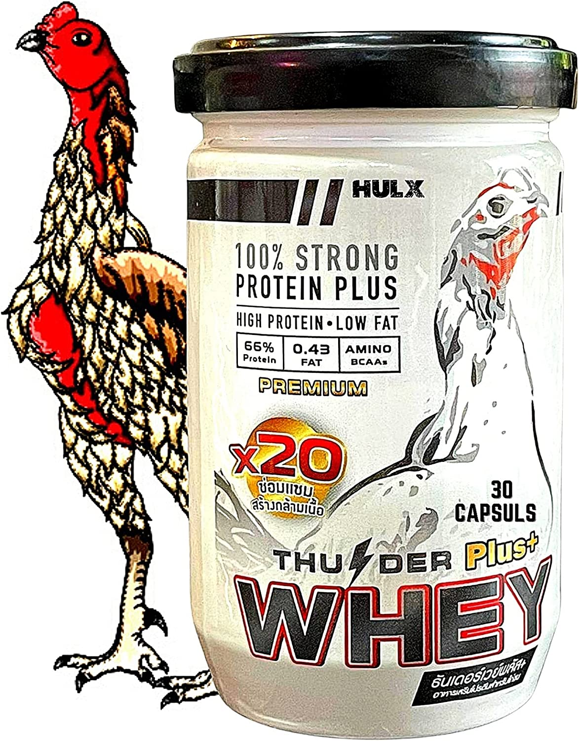 New X3 Bargain Faster 30 Capsules WHEY Rooster Max 81% OFF 68% Vita Protein Booster