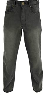 Raphael Valencino Mens Comfortable 4 Way Stretch Jeans by in Grey and Blue. Slight Faded Style