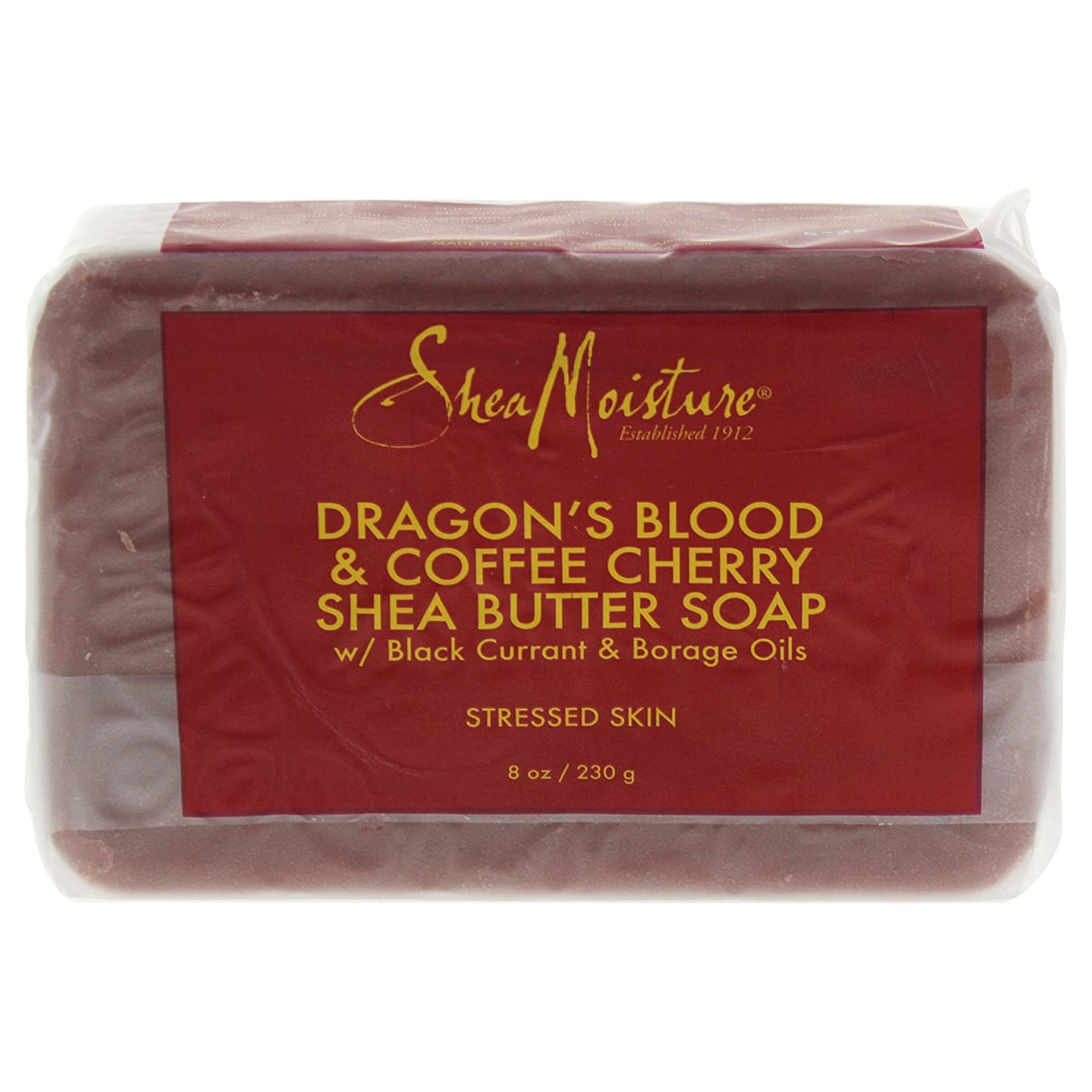フラフープ侵略バラバラにするShea Moisture バーソープ (Dragons Blood & Coffee Cherry Shea Butter Soap - S)