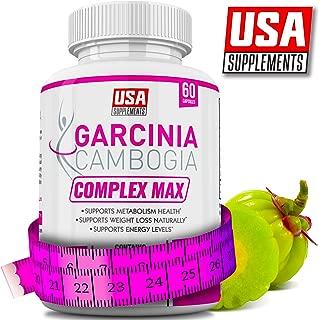 Garcinia Cambogia Appetite Suppressant Capsules for Weight Loss | Best Appetite Suppression Supplement | Vegan Veggie Caps | 100% Pure Garcinia Combogia Extract Diet Pills for Women That Work
