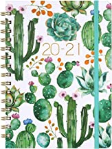 """Planner 2020-2021 - Academic Weekly & Monthly Planner 8.5"""" x 6.4"""", Jul 2020 - Jun 2021, Flexible Hardcover, Strong Binding, Thick Paper, Tabs, Inner Pocket, Elastic Closure, Inspirational Quotes"""