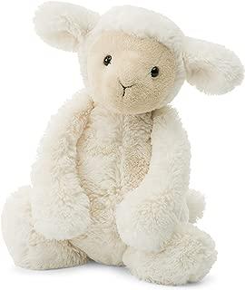 Jellycat Bashful Lamb Stuffed Animal, Medium, 12 inches