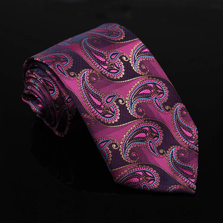 Paisley Tie Dan Smith Men's Fashion Necktie Patterned Microfiber Neck Tie
