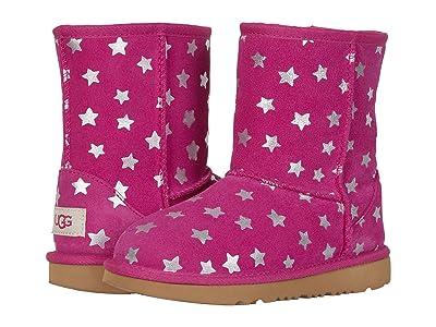 UGG Kids Classic Short II Stars (Little Kid/Big Kid) (Fuchsia) Girls Shoes