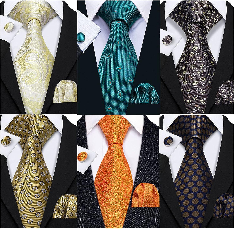 Barry.Wang Spring new work Cheap Men's Ties Set Silk Wedding Woven Neckties Forma