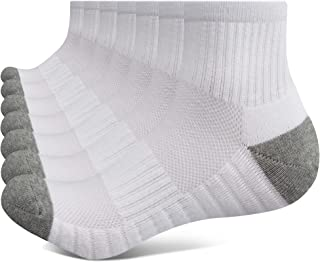 Closemate 7 Pairs Athletic Ankle Trainer Socks Men Women Ladies with Thick Cushioned Sole, Running Quarter Socks for Men &...