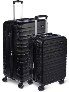 AmazonBasics Hardside Spinner, Carry-On, Expandable Suitcase Luggage with Wheels, Black..