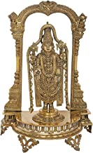 Superfine Lord Venkateshvara as Balaji at Tirupati - Brass Statue