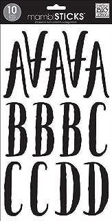me & my BIG ideas Large Alpha Sticker, Abbie Black