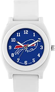 Game Time Women's 'Fan' Quartz Plastic and Rubber Casual Watch, Color:White (Model: NFL-FNW-BUF)
