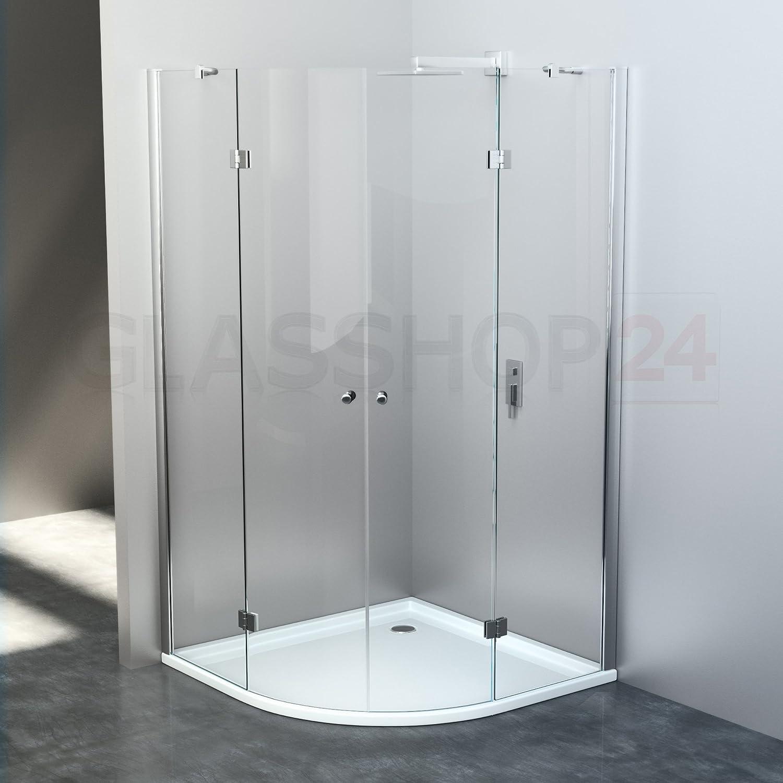 Glasshop24 Duschabtrennung Viertelkreis     800x800x1900mm     SR-008     Nano
