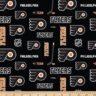 NHL Broadcloth Philadelphia Flyers Fabric by The Yard