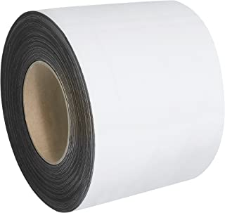 """Warehouse Labels, Magnetic Rolls, 4"""" x 100', White, 1/Case"""