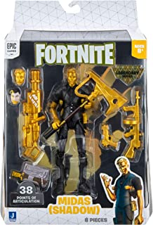 Fortnite Legendary Series Midas, 6-inch Highly Detailed Figure with Harvesting Tool, Weapons, Back Bling, and Interchangea...