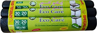 Eco Care Black Garbage Bag Roll, 20s - 60x90x3