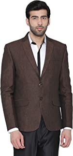 WINTAGE Men's Cotton Checkered All Season Notch Lapel Grey Blazer