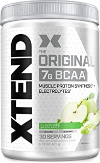 Scivation Xtend Original BCAA Powder, 7g BCAAs, Branched Chain Amino Acids, Zero Sugar Electrolyte Drink + Hydration, Keto...