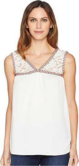Lace Shoulder Tank