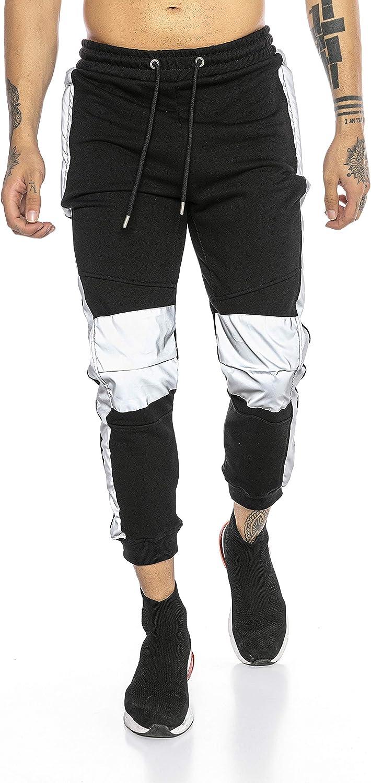 Pantalón Chandal para Hombre Sweat Pants Reflectantes Joggers Streetstyle