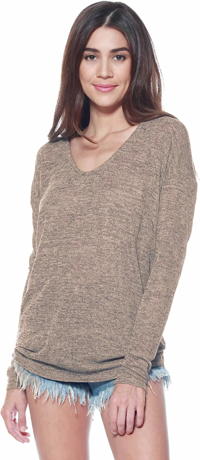 Alexander + David A+D Womens Thin Dolman Long Sleeve Top Lightweight Knit Blouse