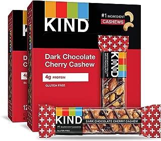KIND Bars, Dark Chocolate Cherry Cashew + Antioxidants, Gluten Free, 1.4 Ounce (24 Count)