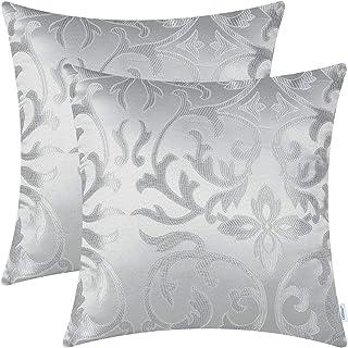 Set van 2 CaliTime Sierkussenhoezen Gevallen voor Bank Sofa Woondecoratie Vintage Floral Two Tone Contrast Both Sides 50cm...