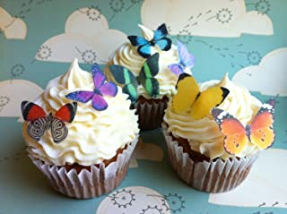 Edible Butterflies - Small Assorted Set of 24 - Cake and Cupcake Toppers, Decoration