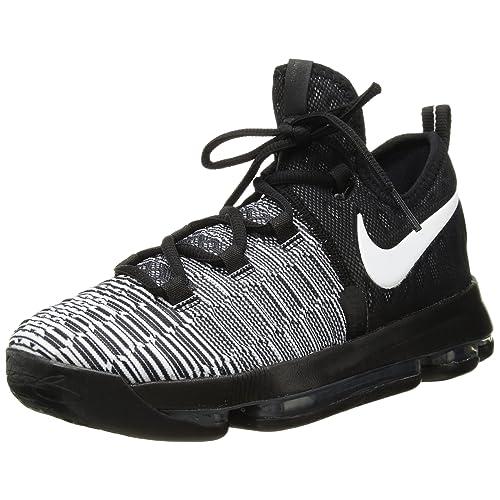 17ec641ad6ef Nike Zoom KD9(GS) Big Kid s Basketball Shoes Black White 855908-010