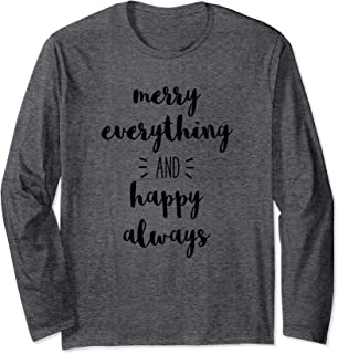 Uplifting Slogan Long Sleeve T-Shirt