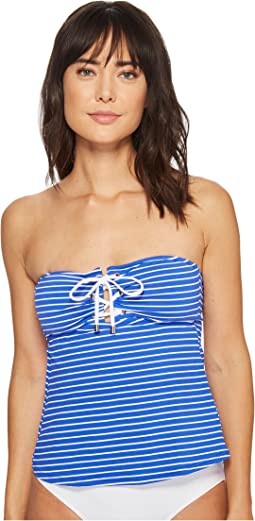 Resort Stripe Laced Tubini Top