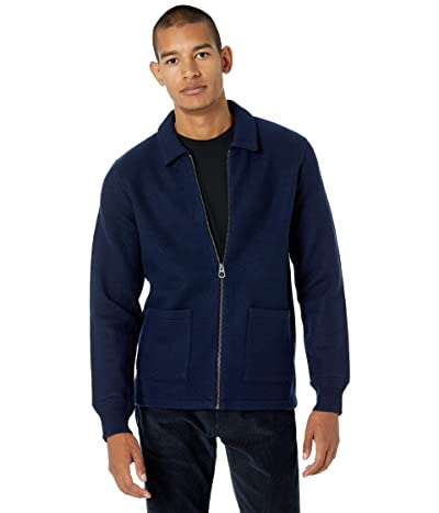 J.Crew Boiled Merino Coach Jacket (Navy) Men