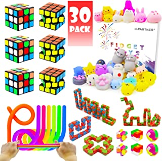Party Favor Pinata Toy For Kids, Party Assortment Bundle, Mini Magic Cube, Mochi Squishies, Stretchy String, Wacky Tracks Toy For Birthday Party,Classroom Rewards,Carnival Prizes, Goodie Bag Fillers