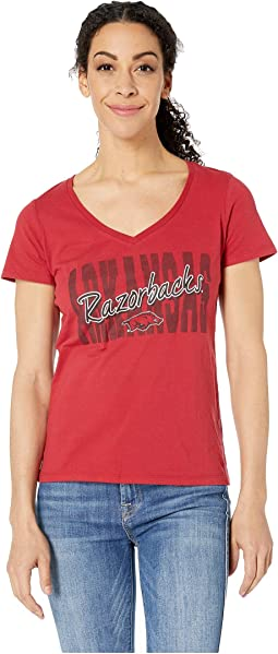 Arkansas Razorbacks University V-Neck Tee
