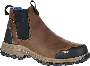 Georgia Boot Men's 5 Inches Blue Collar Chelsea Waterproof Work Romeo Boot-GB00106