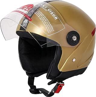 JMD HELMETS Grand Open Face Helmet (Golden, Large)