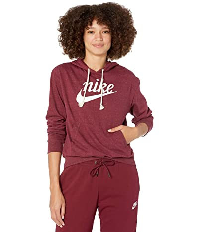 Nike NSW Gym Vintage Hoodie HBR (Dark Beetroot/Sail) Women